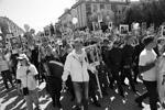 """Участие в акции приняли рекордное число белгородцев – более пяти тысяч жителей (фото: Организаторы акции """"Бессмертный полк"""")"""