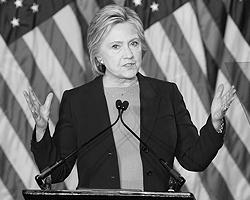 Хиллари Клинтон нужно было продемонстрировать, что она не станет «девочкой для битья» (фото: John Gibbins/ZUMA/Global Look Press)