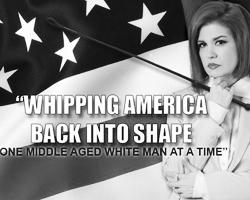 Профессиональная BDSM-доминанта из Нью-Йорка Тара Индиана обещает указать Трампу на его место (фото: twitter.com/TaraIndiana)