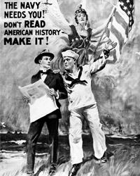 Америка вступила в войну на последнем ее этапе, и ее вклад в развязывании войны видится незначительным (фото: James Montgomery Flagg; The H.C. Miner Litho. Co. N.Y. 1917)