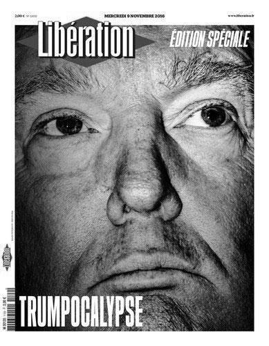 Обложка журнала Liberation после победы Д.Трампа на президентских выборах в США в 2016 году