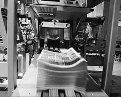 Современные ротационные печатные машины работают примерно в  тридцать раз быстрее детища Кенига и Бауэра(фото:Дмитрий  Копылов/ТАСС)