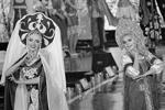 Российские претендентки на титул – красавицы в кокошниках (фото: Евгений Епанчинцев/РИА «Новости»)