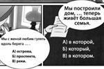 Есть в комиксе и тесты – один понравится украинцам – читателю предлагается поставить правильный предлог на место многоточия во фразе «Прошлой зимой я приехал … Москву» (варианты «на», «в», к»). Впрочем, присутствуют и более серьезные задания (фото:  Департамент национальной политики и межрегиональных связей города Москвы)
