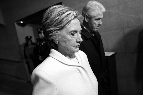 Соперница избранного президента США Дональда Трампа на выборах Хиллари Клинтон и ее муж, бывший президент Билл Клинтон тоже прибыли на инаугурацию