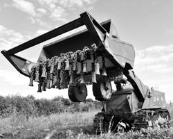 Многофункциональный робототехнический комплекс разминирования Уран-6 (фото: Сергей Пивоваров/РИА Новости)
