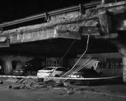 Путепровод проходит над проспектом Перемоги (фото: кадр из видео)