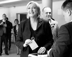 Если бы Марин завоевала хотя бы 30% голосов и уверенное первое место, можно было бы говорить о политическом прорыве (фото:Charles Platiau/Reuters)