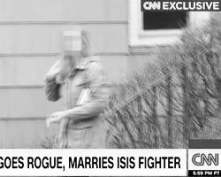 Лицо Грин в американских СМИ не показывают, но рассказывают о ее привлекательной внешности (фото: кадр канала CNN)