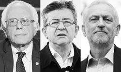 Современные лидеры западных левых: Сандерс, Меланшон, Корбин (фото:  Ron Sachs, Panoramic, Dinendra Haria/Zuma/Global Look  Press)
