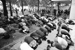 Митинг мусульман закончился после 4 часов дня по московскому времени совместной молитвой.<br>Кампании в поддержку единоверцев-мусульман Мьянмы неоднократно проводились исламскими организациями по всему миру.<br>На сей раз поводом для акции в городах России стали недавние сообщения о действиях военных в Мьянме.<br>В ходе боестолкновений правительственных сил и боевиков-рохинджа на севере штата Ракхайн, где живет народ рохинджа, по данным властей, погибли почти 400 человек: 370 мусульманских боевиков, 15 представителей армии и 14 мирных жителей. Рохинджа также обвиняют в разрушении статуй Будды (фото: Евгений Одиноков/РИА Новости)