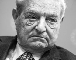 Консервативная, традиционная Америка назвала своего врага по имени, указала на него пальцем, персонализировав его в Джордже Соросе (фото: Bernadett Szabo/Reuters)