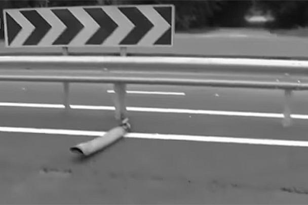 Части снарядов падают на трассу Винница – Киев
