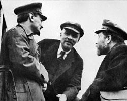 Троцкий, Ленин и Каменев (фото:ТАСС)