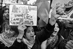 Протестующие в палестинском городе Наблус назвали Трампа террористом (фото: Shadi Jarar'Ah/Zuma/Global Look Press)