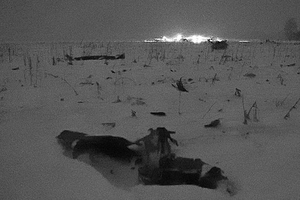 Обломки пассажирского самолета Ан-148 «Саратовских авиалиний» на месте крушения. Пассажирский самолет Ан-148 «Саратовских авиалиний» с бортовым номером RA-61704 потерпел крушение после вылета из московского аэропорта Домодедово в Орск