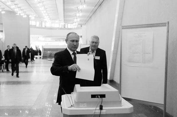 Действующий президент Владимир Путин не стал изменять традиции: как и на выборах в 2000, 2004, 2008 и 2012 годах, он отдал свой голос в здании Российской академии наук на Ленинском проспекте столицы