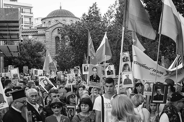 Акция «Бессмертный полк» в этом году прошла в 11 городах Греции, самое масштабное мероприятие состоялось в Афинах, в нем приняли участие более четырех тысяч человек