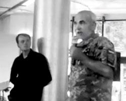 Кадр видеозаписи с выступлением Сирко (Стерикова)