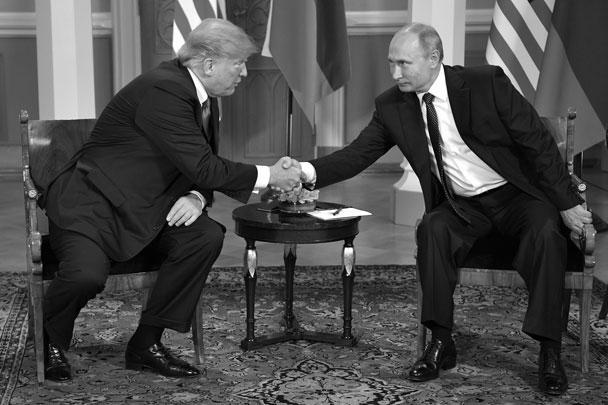 Английский журналист разглядел, как Трамп подмигнул Путину во время открытой для журналистов встречи