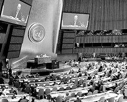 10 сентября Генеральная Ассамблея приняла резолюцию о возвращении беженцев в Ю. Осетию и Абхазию, внесенную Грузией в ООН (фото: un.org)