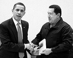 Чавес, делая подарок Обаме, не учел один факт: испанским президент США не владеет (фото: Reuters)