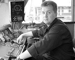 Машинист поезда «Невский экспресс» Алексей Федотов, спасший жизни людей при крушении 13 августа (фото: ИТАР-ТАСС)