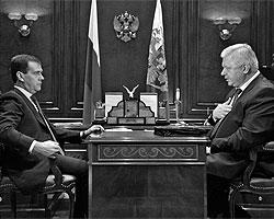 Дмитрий Медведев и Михаил Шмаков (Фото: ИТАР-ТАСС)
