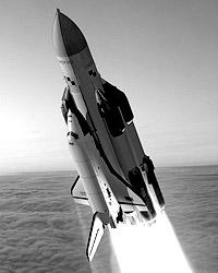 Ракета-носитель «Энергия» вывела на орбиту космический корабль «Буран» – наш ответ американским «шаттлам» (фото: buran.ru)