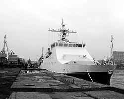 Пограничный сторожевой корабль 2-го ранга «Рубин» будет нести службу в черноморском регионе (фото: Денис Нижегородцев/ВЗГЛЯД; нажмите чтобы увеличить)