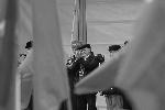 Лидер КПРФ Геннадий Зюганов заявил на митинге, что россияне ходят в китайских трусах, нюхают голландские цветы и едят турецкие яблоки (фото: Артем Коротаев/ВЗГЛЯД)