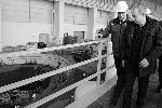 Председатель правительства проверяет восстановительные работы на СШГЭС (фото: ИТАР-ТАСС)