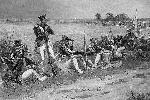 Отечественная война 1812 года. Кивера и треуголки пока сохраняются в большинстве родов войск, но кое-где уже появляются более практичные фуражки