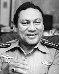 Командующий национальной гвардией Мануэль Норьега во время переговоров с журналистами в Панаме 8 ноября 1989 (фото: msnbc.msn.com)