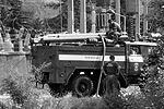 Пожарные дежурят возле ГЭс, чтобы полностью исключить опасность повторного возгорания