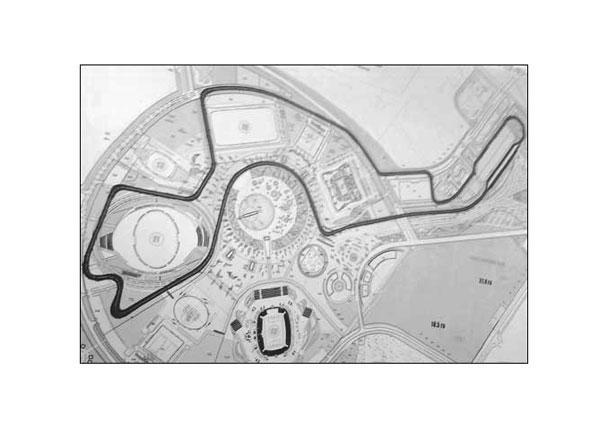 Схема трассы, которая будет использоваться для проведения Гран-при России в Сочи (нажмите, чтобы увеличить) .