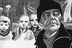 Известный итальянский художник Игорт, который считается лучшим создателем комиксов в Европе, выпустил рисованную книгу «Украинские тетради. Мемуары о временах СССР» – о массовом голоде 30-х годов прошлого века и современной ситуации на Украине (фото: futuropolis.fr)