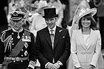 Принц Чарльз, Майкл и Кэрол Миддлтоны в Вестминстерском аббатстве (фото: Reuters)