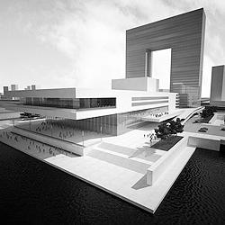 СМИ успели растиражировать облик будущего театра Пугачевой в виде буквы «П». Однако от этого проекта его создатели отказались (фото: dp.ru)