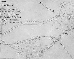 Немецкая карта окрестностей Катыни  1943 года. Нажмите, что бы увеличить(Фото:  archives.gov)