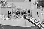 Несколько месяцев до сдачи корабля фрегат проходил испытания в Балтийском море (фото: ИТАР-ТАСС)