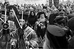 Одно из важнейших богослужений православного мира традиционно состоялось на Святой земле, в Вифлееме. Патриарх Иерусалима Феофил III в рождественскую ночь молился о преодолении мирового экономического кризиса и прекращении междоусобиц на Ближнем Востоке (фото: EPA/ИТАР-ТАСС)