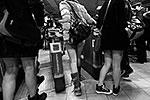 Лондон. О том, когда спуститься под землю без штанов, участники договорились в социальных сетях (фото: ИТАР-ТАСС)