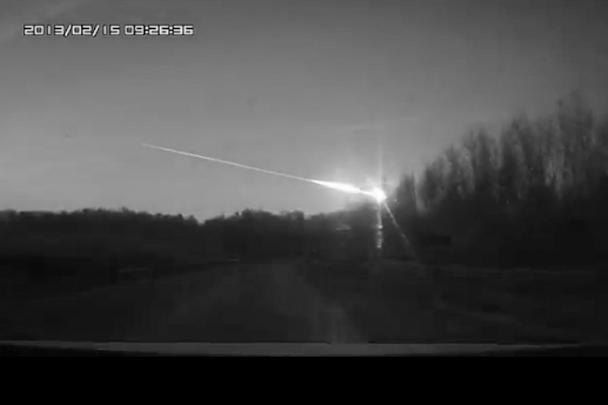 Падение метеорита очевидцы описали как пугающую яркую вспышку