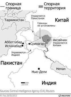 Карта спорных территорий
