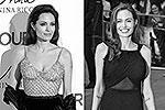 Анджелина Джоли во время испанской премьеры фильма «Турист», в котором сыграла главную роль, 16 декабря 2010 года (слева) и во время британской премьеры картины «Война миров Z» 2 июня 2013 года (справа). Никакой разницы – все та же красавица (фото: Reuters)