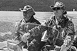 """По оценке Пескова, «это был очень интересный отдых, Путин и Медведев очень душевно общались, разговаривали, купались»  <a href = """"http://vz.ru/news/2013/7/26/642993.html"""" target = """"_blank"""">Подробности</a>(фото: ИТАР-ТАСС)"""