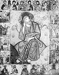 Илия пророк с житием и деисусом. Икона из церкви Ильи Пророка в погосте Выбуты, близ Пскова