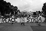 Акция протеста в Вашингтоне прошла традиционно перед Белым домом (фото: Reuters)