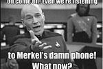 Автор этого мема хотел сказать, что информация о прослушке США телефона Ангелы Меркель на самом деле не стала сенсацией (фото: пользователи twitter.com)